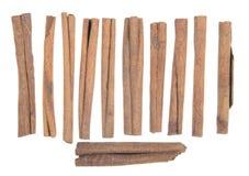 Opgestelde pijpjes kaneel Stock Fotografie