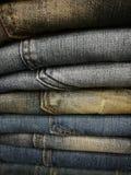 Opgevoerde jeans royalty-vrije stock afbeeldingen