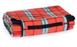 Opgevouwen reis, picknick algemeen traliewerk met rood, zwart blauw, royalty-vrije stock foto's