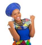 Opgewekt Afrikaans meisje Stock Foto