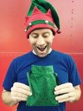 Opgewekt door Kerstmis! Stock Foto