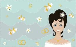 Opgewekte bruid Stock Afbeeldingen