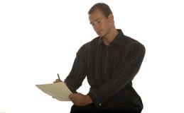 Opgewekte succesvolle zakenman Stock Foto