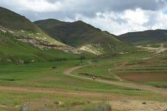 Opgezet Personenvervoer Sotho weg in het Landschap van Lesotho Royalty-vrije Stock Fotografie