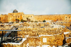 Ophel ruins in the Old city of Jerusalem Royalty Free Stock Images