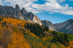 Ophir Needles Fall Colors Fotografie Stock