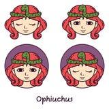 Ophiuchus astrologitecken också vektor för coreldrawillustration vektor illustrationer
