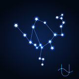 Ophiuchus constellation vector Stock Image