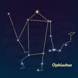 Ophiuchus constellation vector illustration Royalty Free Stock Photos