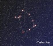 Ophiuchus da constelação ilustração do vetor