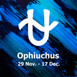 Ophiuchus, dertiende teken van de dierenriem Royalty-vrije Stock Afbeeldingen