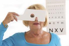 Ophtalmology senior Stock Images