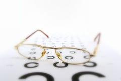 ophthalmologic scale för glasögon arkivfoto