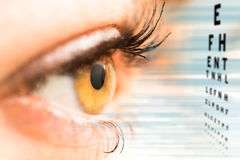 Ophthalmologist concept. Ophthalmologist concept, checking eyesight with a visit to a specialist royalty free stock images