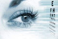 Ophthalmologist concept. Ophthalmologist concept, checking eyesight with a visit to a specialist stock photography