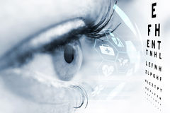 Ophthalmologist concept. Ophthalmologist concept, checking eyesight with a visit to a specialist Stock Images