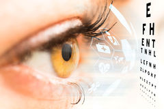 Ophthalmologist concept. Ophthalmologist concept, checking eyesight with a visit to a specialist Royalty Free Stock Photography