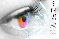 Ophthalmologist concept. Ophthalmologist concept, checking eyesight with a visit to a specialist Stock Image