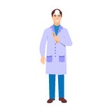 Ophthalmologist doctor character vector isolated Royalty Free Stock Image