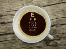 Ophthalmologist offers coffee Royalty Free Stock Photos
