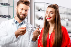 Ophthalmologist with patient Stock Images