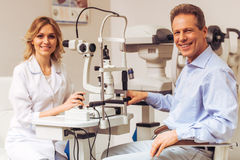 At the ophthalmologist Royalty Free Stock Image