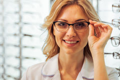 At the ophthalmologist Stock Image
