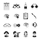Ophthalmology Black White Icons Set Stock Photo