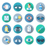 Ophthalmology icon set Royalty Free Stock Photography