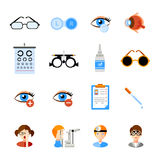 Ophthalmology Icons Set royalty free illustration