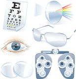 Ophthalmology vector icon set Royalty Free Stock Photo