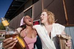 opiłe kobiety Zdjęcia Royalty Free