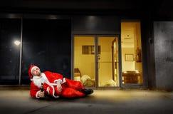 opiły Santa obrazy royalty free