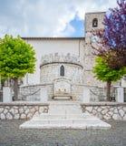 Opi lantlig by i den Abruzzo nationalparken, landskap av L ` Aquila, Italien Arkivfoto