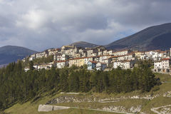 Opi, medieval village on the Abruzzo Mountains in Italy Royalty Free Stock Photography