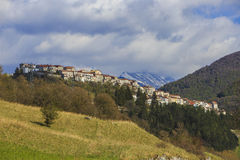 Opi, medieval village on the Abruzzo Mountains in Italy Royalty Free Stock Image