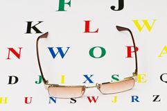 Opical glasses Royalty Free Stock Photography