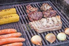 opieczenia mięsa warzywa Zdjęcie Royalty Free