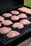 opieczenie hamburgerów hotdogi Fotografia Royalty Free