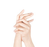 Opieka dla pięknych kobiet ręk Fotografia Royalty Free