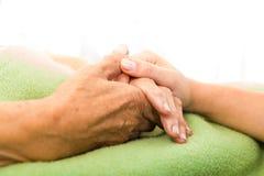 Opieka dla starszych osob Zdjęcie Stock