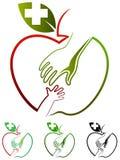 Opieka nad dzieckiem logo royalty ilustracja