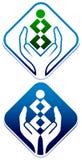Opieka nad dzieckiem logo Zdjęcie Stock