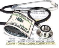 Opieka zdrowotna koszt Zdjęcia Stock