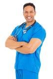 Opieka zdrowotna męski Pracownik Obraz Royalty Free