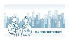 Opieka zdrowotna profesjonalistów sztandar Zdjęcia Stock