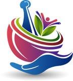 Opieka ziołowy logo royalty ilustracja