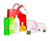 opieki cdr produktów skóry wektor Zdjęcia Stock