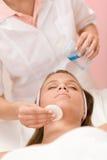 opieki cleaning twarzy skóry kobieta Zdjęcie Stock