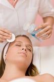 opieki cleaning twarzy skóry kobieta Zdjęcia Royalty Free